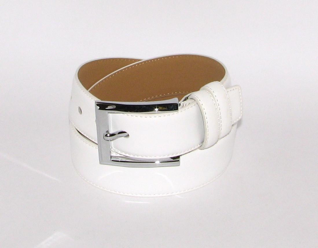 Ремень брючный с классической пряжкой Alon E350868 120 см женский Белый