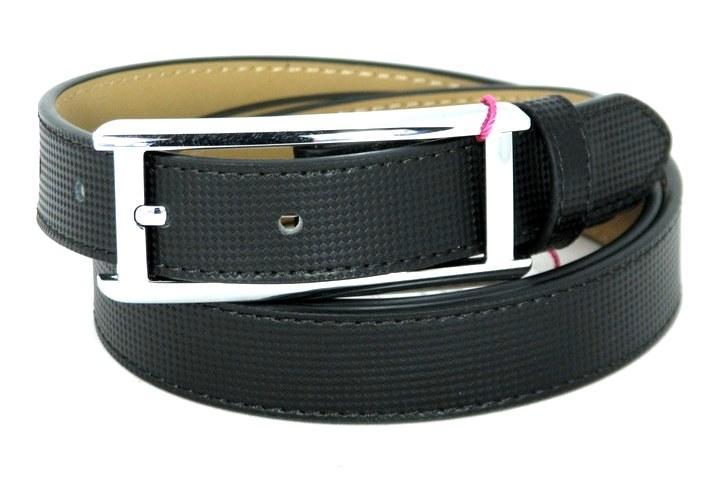 Ремень кожаный Alon E250188 115 см женский черный