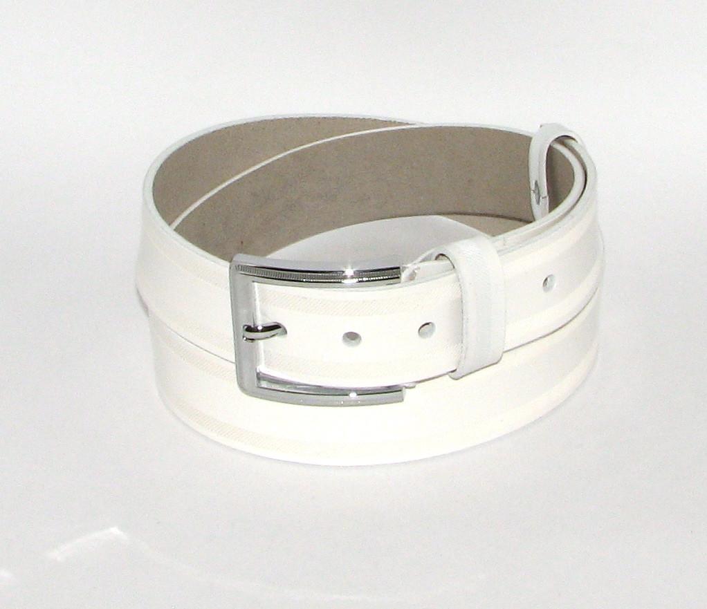 Ремень брючный с классической пряжкой Alon A4034W 115 см женский Белый