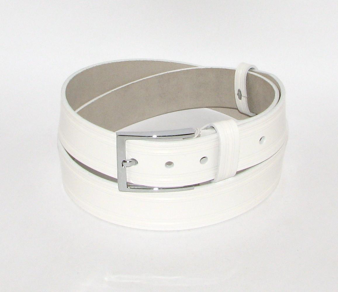 Ремень брючный с классической пряжкой Alon A4033W 115 см женский Белый
