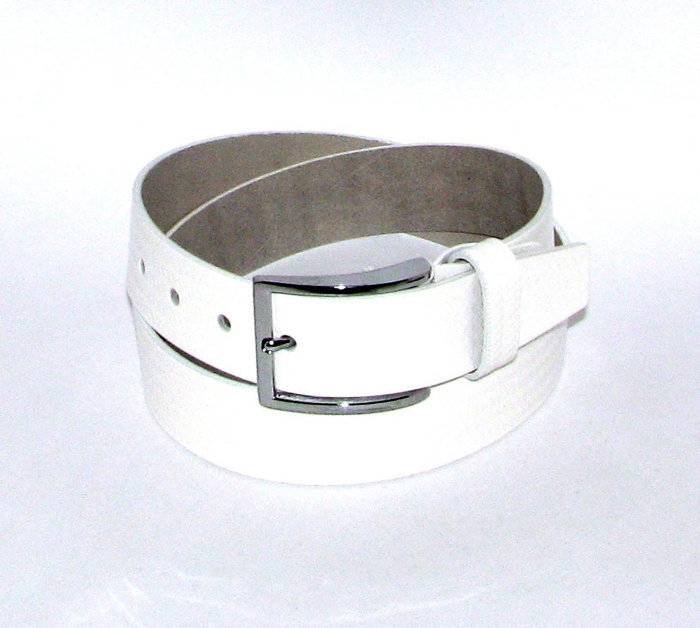 Ремень брючный с классической пряжкой Alon A4016W 125 см женский Белый