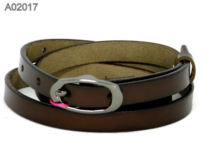 Ремень кожаный Alon A02017 120 см женский Коричневый