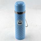 Вакуумный детский металлический термос Benson BN-56 350 мл | Голубой, фото 4