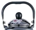 Эмалированный чайник с подвижной ручкой Benson BN-101 1,5 л | Черный с рисунком, фото 4