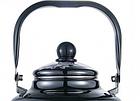 Эмалированный чайник с подвижной ручкой Benson BN-104 1.1 л | Черный с рисунком, фото 3