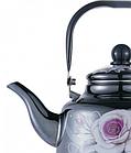 Эмалированный чайник с подвижной ручкой Benson BN-107 3.3 л | Черный с рисунком, фото 2
