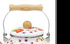 Эмалированный чайник с подвижной деревянной ручкой Benson BN-109 2.5 л   Белый с рисунком, фото 5
