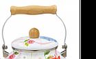 Эмалированный чайник с подвижной деревянной ручкой Benson BN-109 2.5 л   Белый с рисунком, фото 6