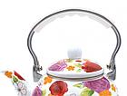 Эмалированный чайник с подвижной нейлоновой ручкой Benson BN-110 2.5 л | Белый с рисунком, фото 6