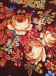 Літні сутінки 1219-17, павлопосадский вовняну хустку з вовняної бахромою, фото 5