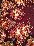 Літні сутінки 1219-17, павлопосадский вовняну хустку з вовняної бахромою, фото 7
