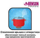 Набор кастрюль из нержавеющей стали 6 предметов Benson BN-215 11 л, 13 л, 16 л, фото 2