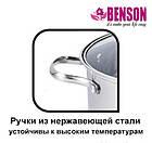 Набор кастрюль из нержавеющей стали 6 предметов Benson BN-215 11 л, 13 л, 16 л, фото 5