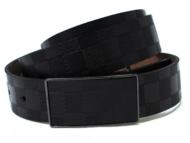 Ремень кожаный NB35bl10 105 см унисекс черный