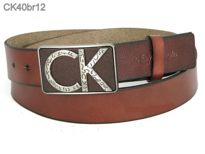 Кожаный стильный ремень ck40br12 120 см коричневый