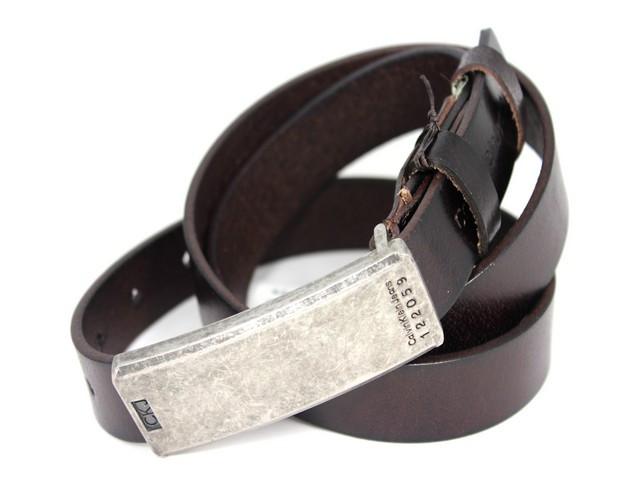 Кожаный стильный ремень ck30br11 110 см коричневый