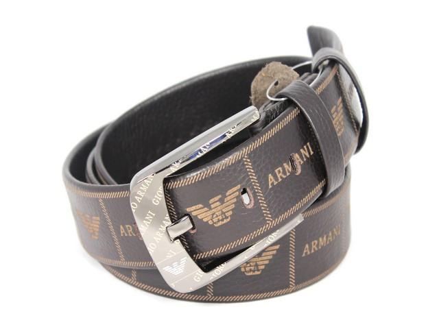 Кожаный стильный ремень ar40br2 115 см коричневый
