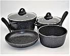 Набор посуды Benson BN-312 мраморное покрытие | 6 предметов, фото 6