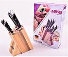 Набор ножей из нержавеющей стали на подставке Benson BN-404 | 6 предметов | Ножи Германия, фото 4