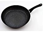 Сковорода с антипригарным мраморным покрытием с крышкой Benson BN-501 22*4,5 см, фото 9