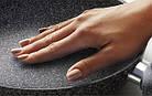 Сковорода с антипригарным мраморным покрытием с крышкой Benson BN-502 24*5 см, фото 8