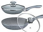 Сковорода с гранитным покрытием Benson BN-514 22*5.5 см | Крышка | Индукция | Бакелитовая ручка, фото 5