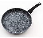 Сковорода с гранитным покрытием Benson BN-515 24*5.5 см | Крышка | Индукция | Бакелитовая ручка, фото 3