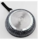 Сковорода с гранитным покрытием Benson BN-517 28*6 см | Крышка | Индукция | Бакелитовая ручка, фото 4