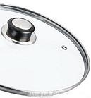 Сковорода с гранитным покрытием Benson BN-518 24*7 см | Крышка | Индукция | Бакелитовая ручка, фото 4