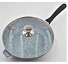 Сковорода литая WOK с антипригарным гранитным покрытием Benson BN-521 28*7 см, фото 5