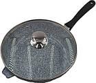 Сковорода литая WOK с антипригарным гранитным покрытием Benson BN-521 28*7 см, фото 7