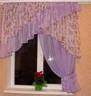 Кухонная штора Милана Сиреневый