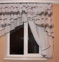 Кухонная штора Милана Черный