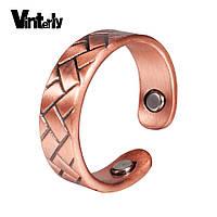 Медное кольцо с магнитами Vinterly женское., фото 1