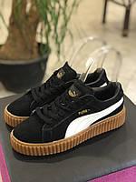 Puma Rihanna Creepers замшевые черного цвета  40 размер