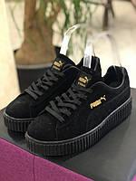 Puma Rihanna Creepers замшевые черного цвета на черной подошве 42 размер