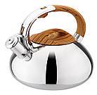 Чайник со свистком из нержавеющей стали Benson BN-703 3 л | Нейлоновая ручка | Индукция, фото 5