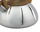 Чайник со свистком из нержавеющей стали Benson BN-704 3 л | Нейлоновая ручка | Индукция, фото 4