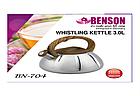Чайник со свистком из нержавеющей стали Benson BN-704 3 л | Нейлоновая ручка | Индукция, фото 6