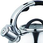 Чайник со свистком из нержавеющей стали Benson BN-708 3 л | Нейлоновая ручка | Индукция, фото 2