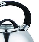 Чайник со свистком из нержавеющей стали Benson BN-708 3 л | Нейлоновая ручка | Индукция, фото 4