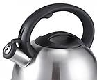 Чайник со свистком из нержавеющей стали Benson BN-709 3 л | Нейлоновая ручка | Индукция, фото 6