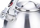 Чайник со свистком из нержавеющей стали Benson BN-710 3 л   Нейлоновая ручка   Индукция, фото 2