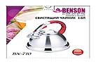 Чайник со свистком из нержавеющей стали Benson BN-710 3 л | Нейлоновая ручка | Индукция, фото 5