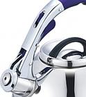 Чайник со свистком из нержавеющей стали Benson BN-711 3 л | Нейлоновая ручка | Индукция, фото 2