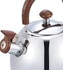 Чайник со свистком из нержавеющей стали Benson BN-712 3 л | Нейлоновая ручка | Индукция, фото 3