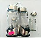 Набор соль/перец Benson BN-1022   Набор для специй на подставке, фото 6