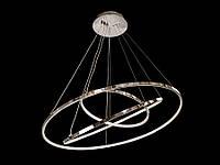 Светодиодная подвесная люстра с регулируемой высотой  хром 9079-80*60*40, фото 1