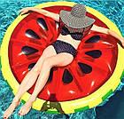 Пляжный надувной матрас - плот Арбуз, диаметр 143 см, фото 2