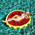 Пляжный надувной матрас - плот Арбуз, диаметр 143 см, фото 4